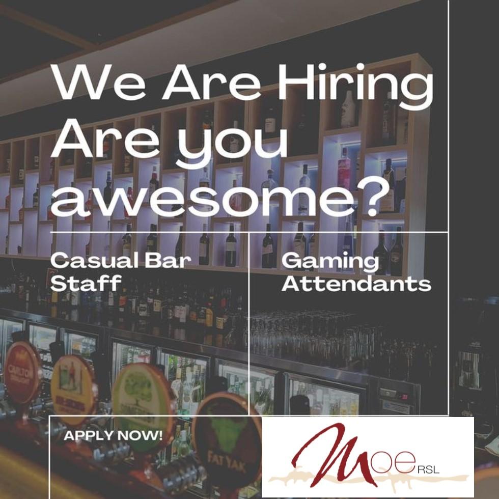 job vacancies at moe rsl