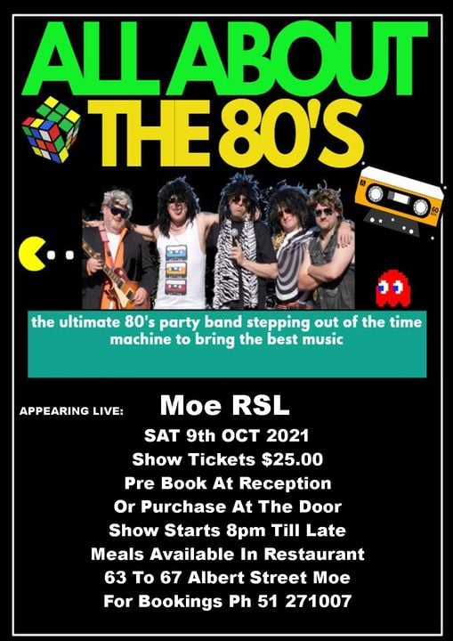 all about the 80s at Moe RSL